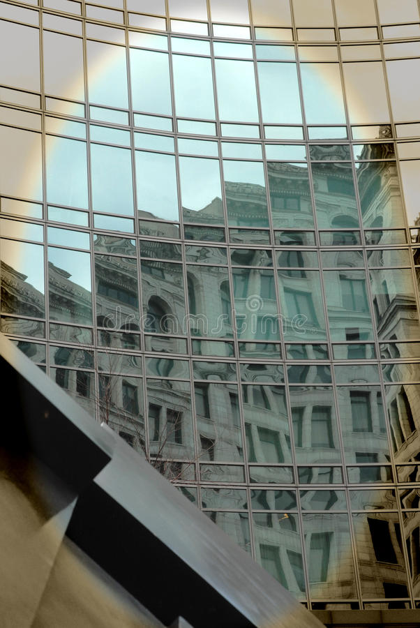 Astor Place Reflection NYC royalty free stock photography