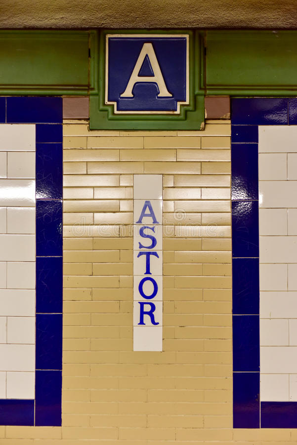 Astor Place Subway Station - New York City arkivbilder