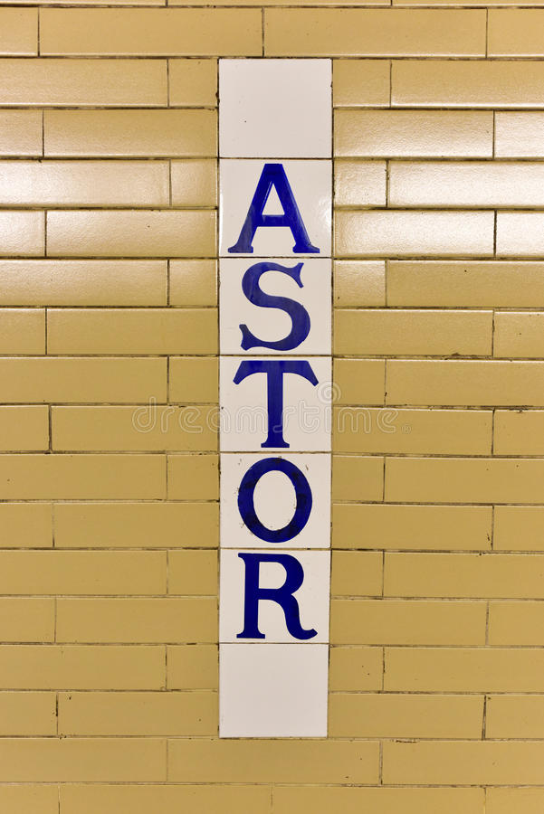 Astor Place Subway Station - New York City royaltyfri bild