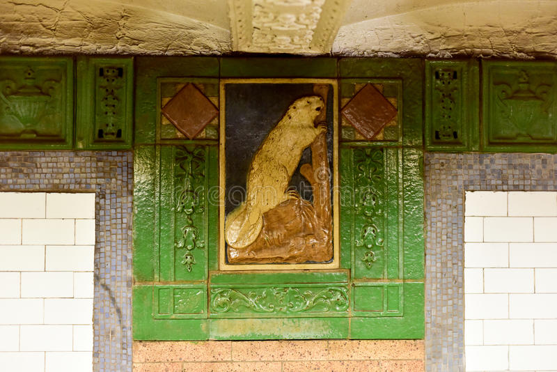 Astor Street Subway Station - New York City royalty free stock images