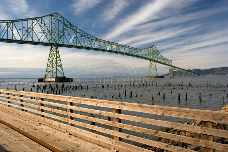 Download Astoria-Megler Bridge stock photo. Image of pilings, five - 522282