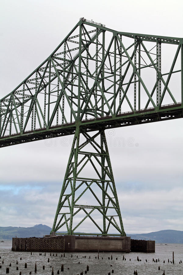 Astoria-Megler Bridge. Closeuup of the Astoria-Megler Bridge, Astoria, Oregon stock photos