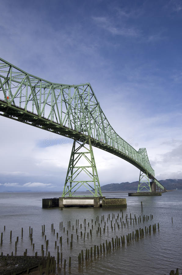 Astoria Megler Bridge Oregon royalty free stock photography