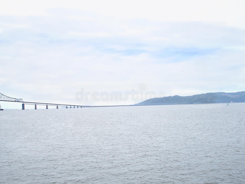 Astoria-Megler Bridge. The bridge that spans the Columbia River between Astoria, Oregon and Point Ellice stock images