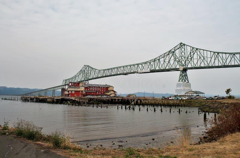 Astoria-Megler Bridge, a steel cantilever through truss bridge between Astoria, Oregon and Washington royalty free stock photos