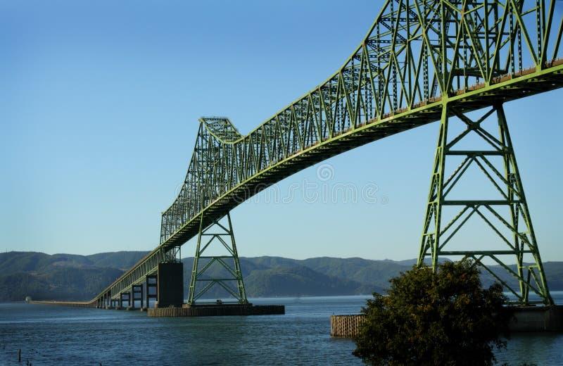 Astoria Megler bro arkivbild
