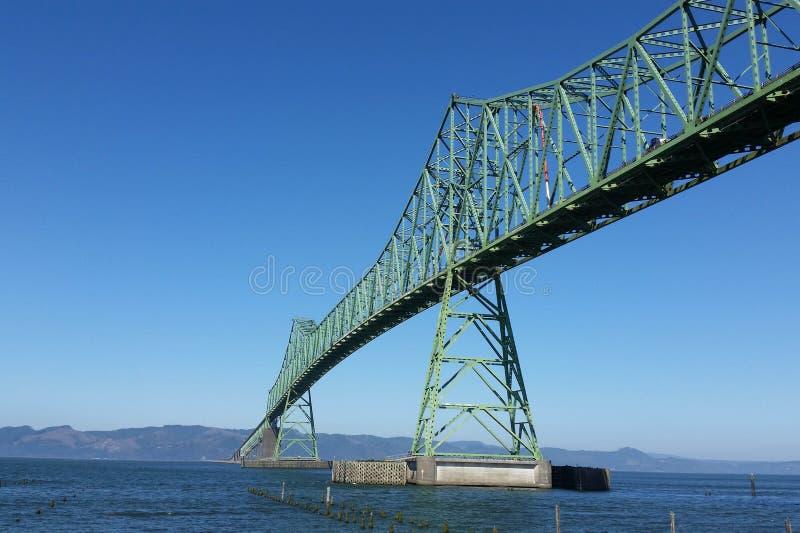 Astoria-Megler bro i Portland, Oregon arkivfoto