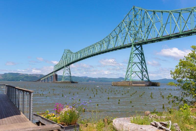 Astoria-Megler most, Astoria, Oregon obraz stock
