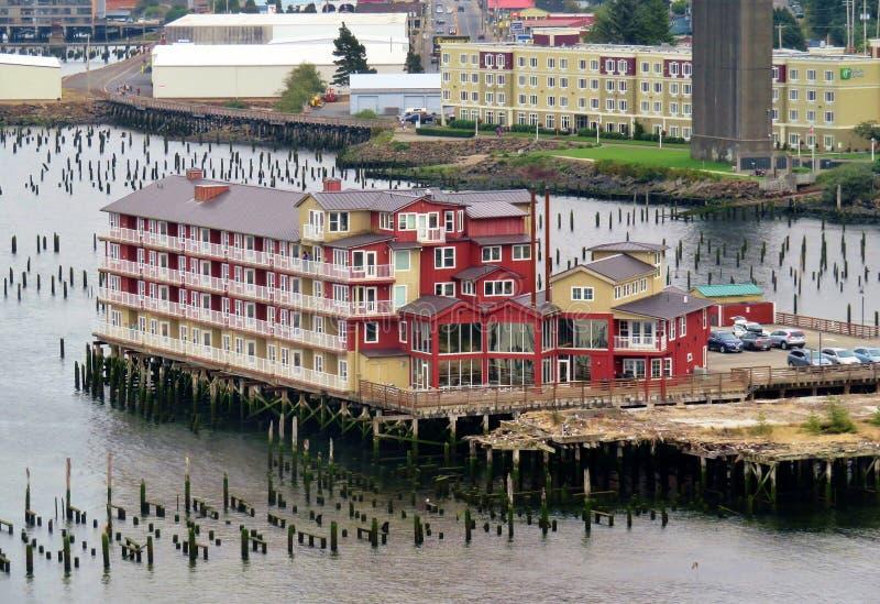 Astoria, Oregon, 9/16/2018, de Conservenfabriek Pier Hotel & Kuuroord stock afbeelding