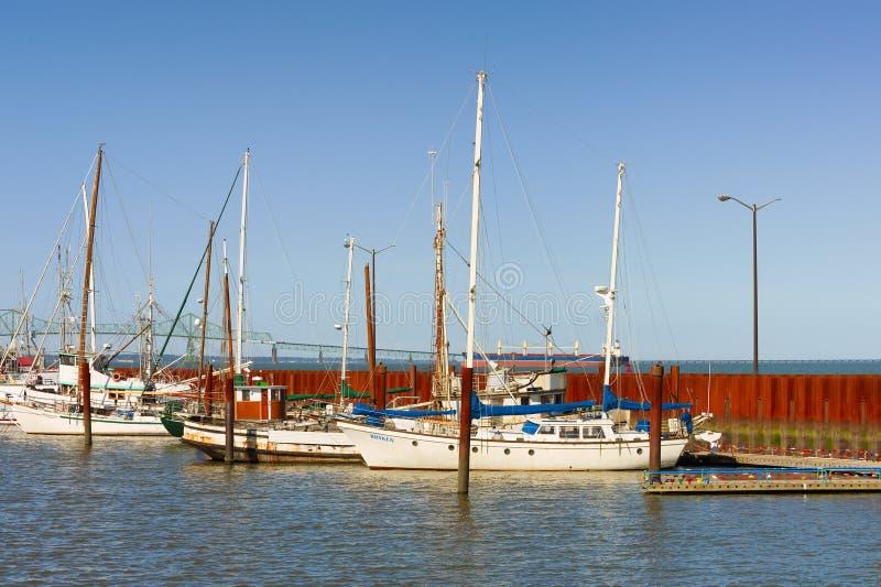Astoria Oregon`s Waterfront Landscape stock images
