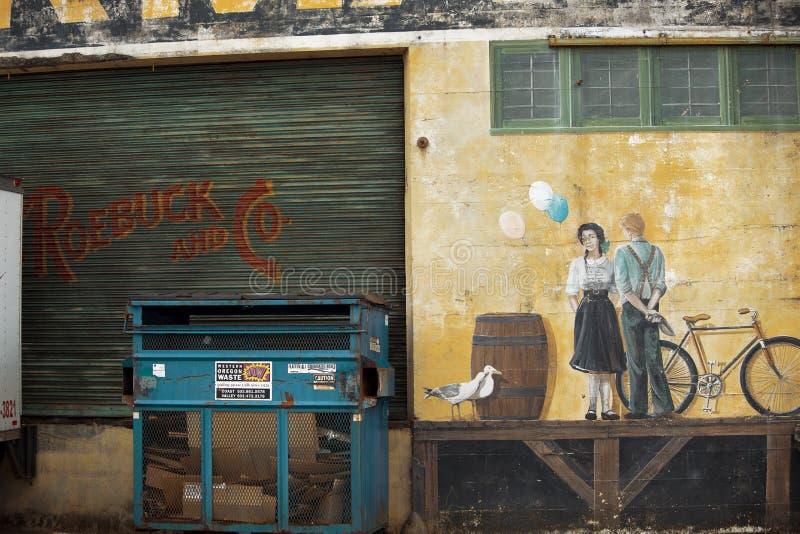 Astoria Riverwalk malowidło ścienne zdjęcie stock