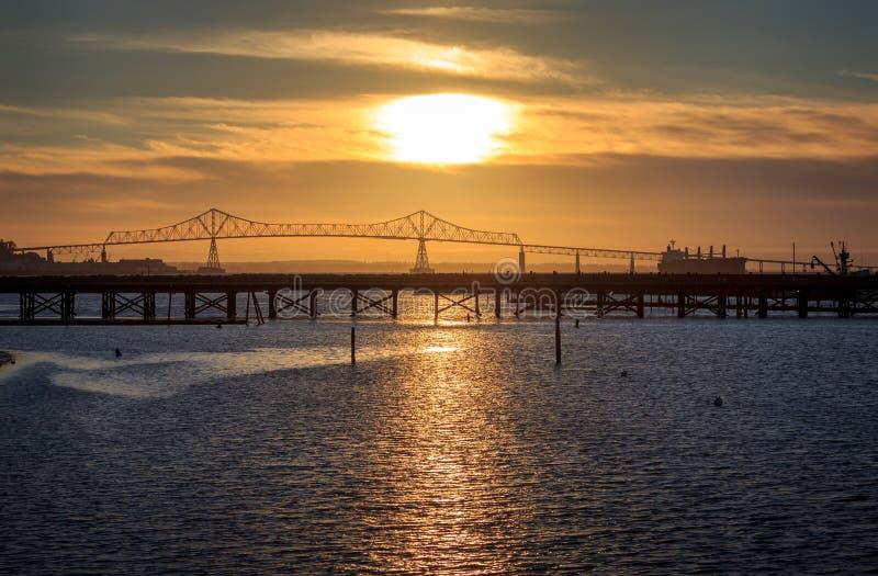 Astoria-Sonnenuntergang stockbild