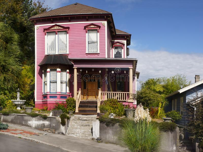 Astoriahuizen, Oregon Verenigde Staten royalty-vrije stock foto