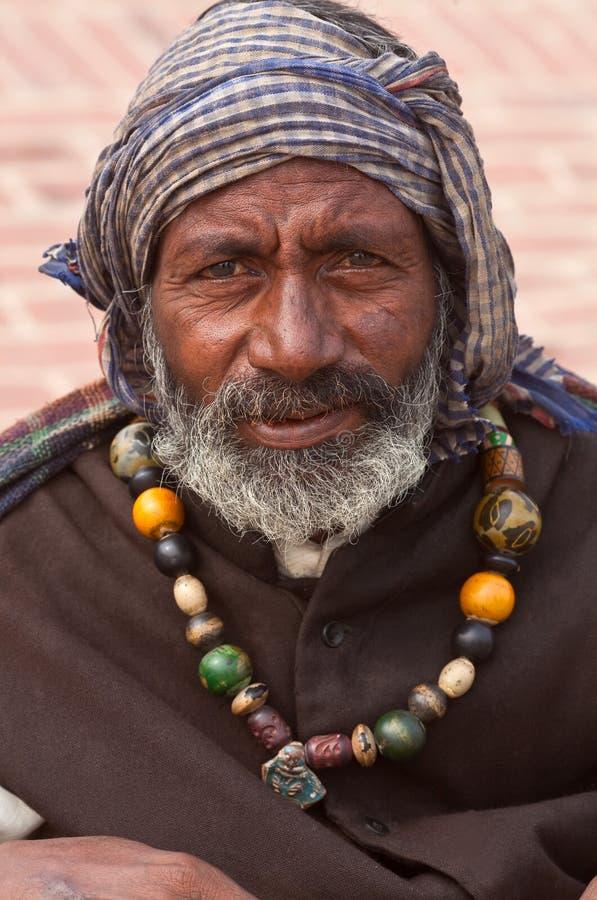 Astrólogo hindú de la calle en Varanasi, la India imagen de archivo