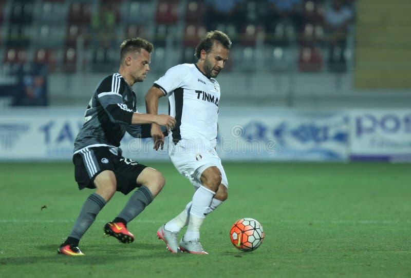 Astra Giurgiu contre f C Copenhague - série éliminatoire de ligue de champions d'UEFA 3ème image libre de droits