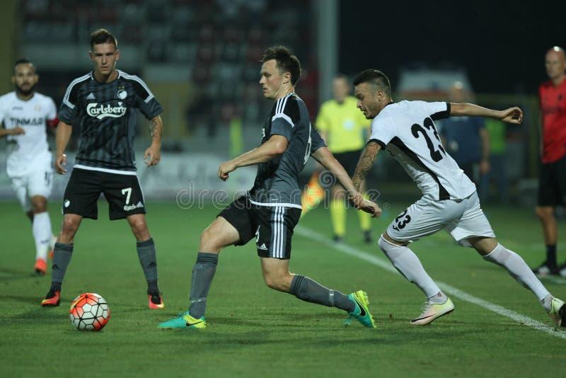 Astra Giurgiu gegen f C Kopenhagen - 3. Qualifikationsrunde der UEFA-Meister-Liga stockfoto