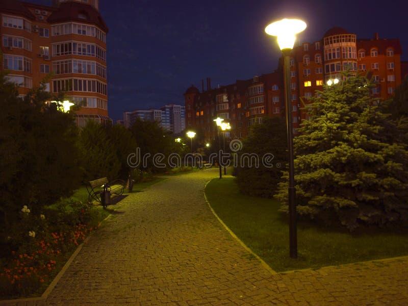 Astrachan'alla notte immagine stock