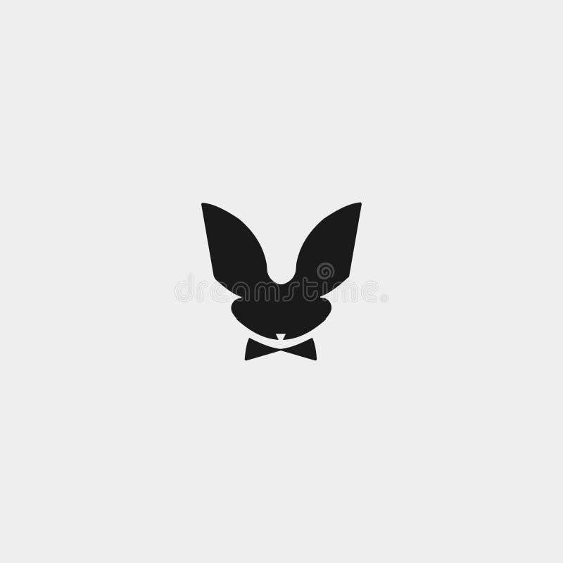 Astract do logotipo do coelho imagem de stock