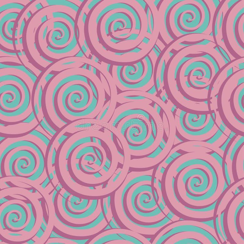 Astract sömlös modell med spiral vektor illustrationer