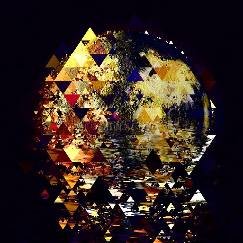 Astraction van de driehoekswereld stock afbeeldingen