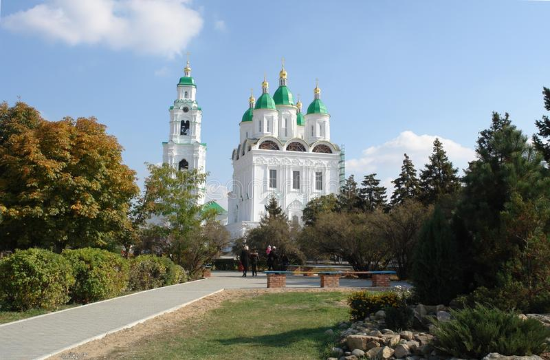 The Astrakhan cathedral stock photos