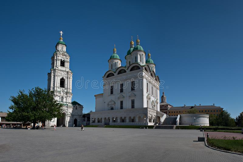 Astrakhan kremlin. Cathedral bell-tower in Astrakhan. Russia royalty free stock photos