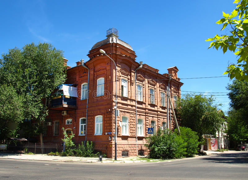 Astrakhan. An old house in the city of Astrakhan. Russia stock photography
