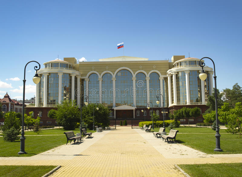 Astrakhan. Russia. Beautiful building of the Astrakhan regional court stock images