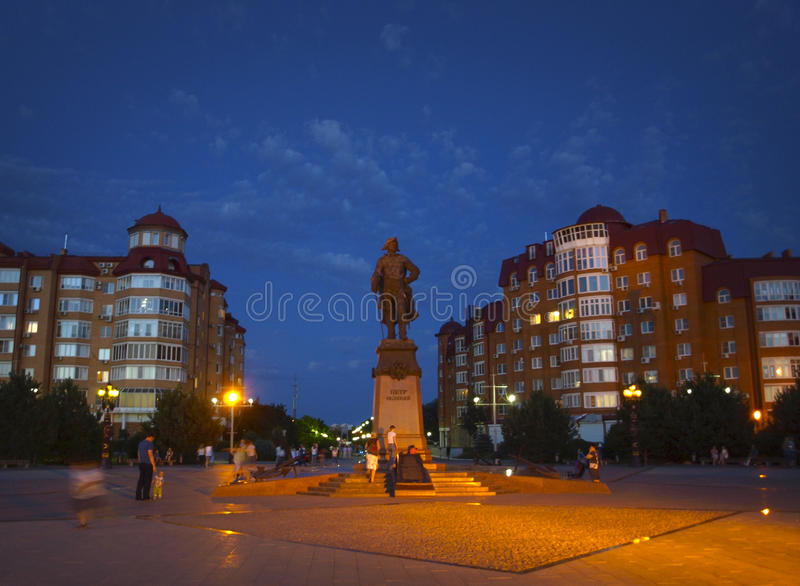 Astrakhan. Russia. Monument to Peter the Great in Astrakhan stock photo