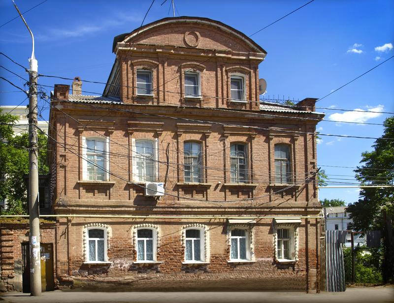 Astrakhan. Russia. An old merchant`s house in the city of Astrakhan. Russia stock photography