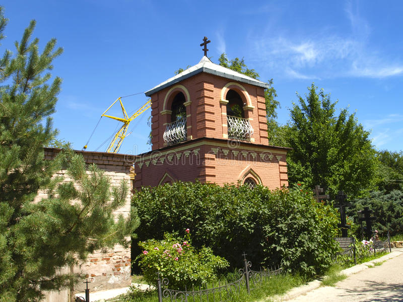 Astrakhan. Russia. Small chapel in the Astrakhan monastery stock photos