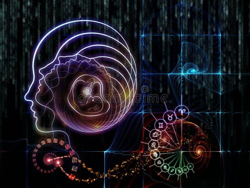 Download Astral Knowledge stock illustration. Illustration of mind - 30416566