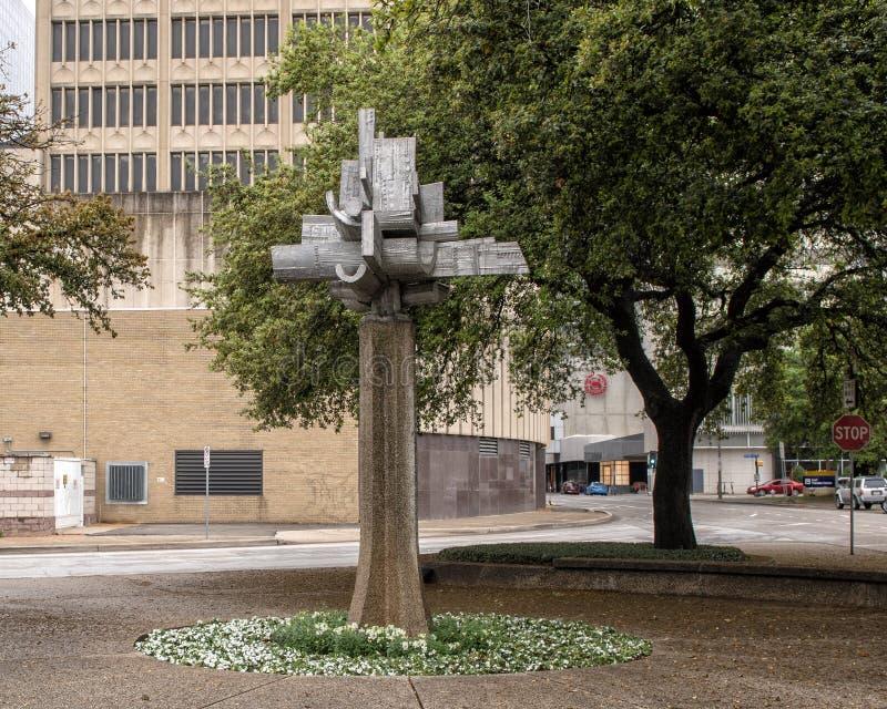 Astralny kwiat Jose Luis Sanchez w w centrum Dallas, Teksas obraz stock
