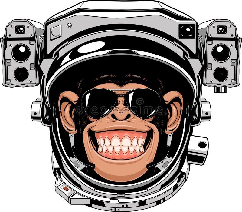 Astranavt alegre do macaco ilustração do vetor