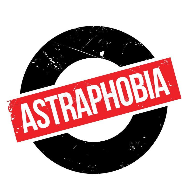Astraphobia pieczątka ilustracja wektor