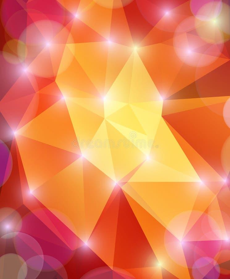 Astrattezza di fondo multicolore brillante illustrazione vettoriale