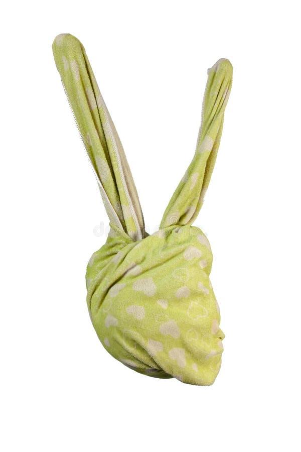 Astrattismo della testa del coniglio dell'asciugamano fotografie stock libere da diritti