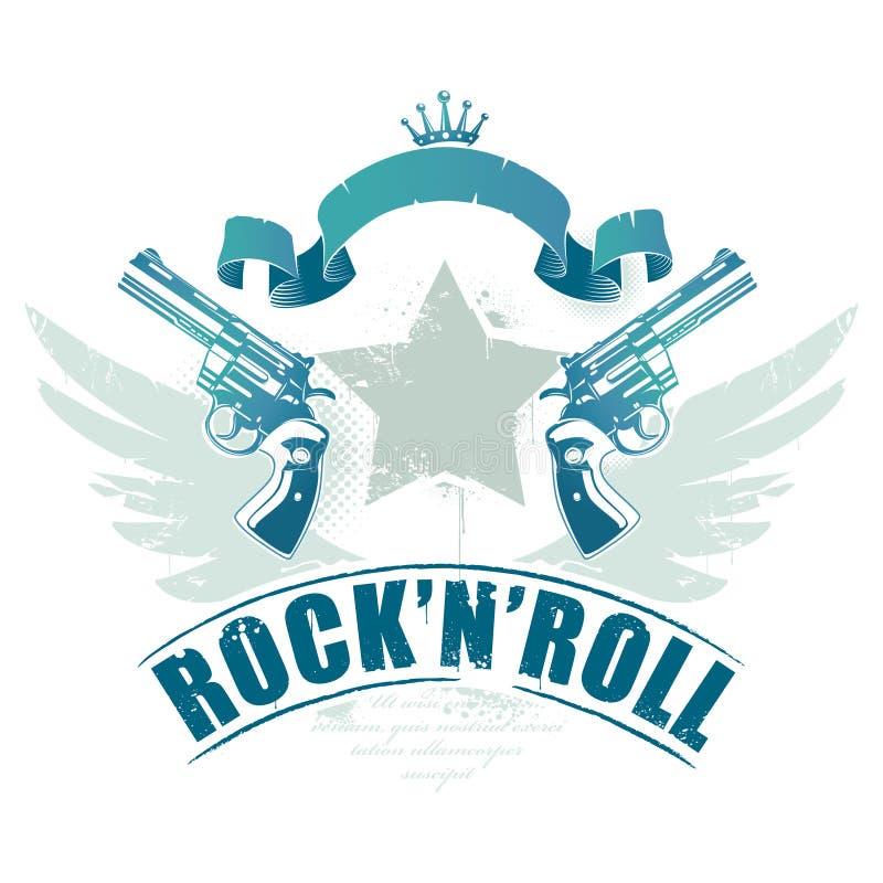 Astratto roccia-N-rotoli l'immagine royalty illustrazione gratis