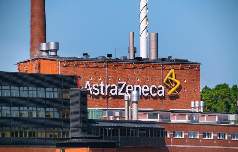 AstraZeneca - Factory. AstraZenecas manufacturing facility at Snackviken in Sodertalje, Sweden royalty free stock photos