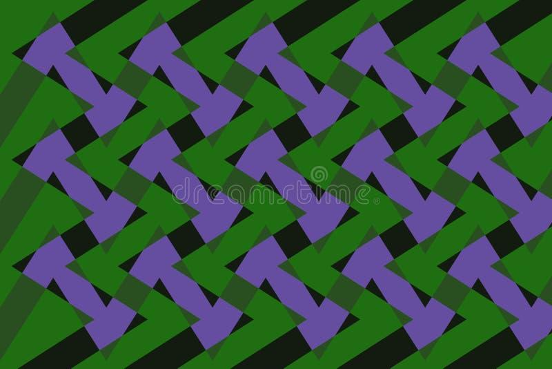 Astrazione adorabile, fondo fine, originale, giusto dei colori viola, verdi, scuri! illustrazione vettoriale