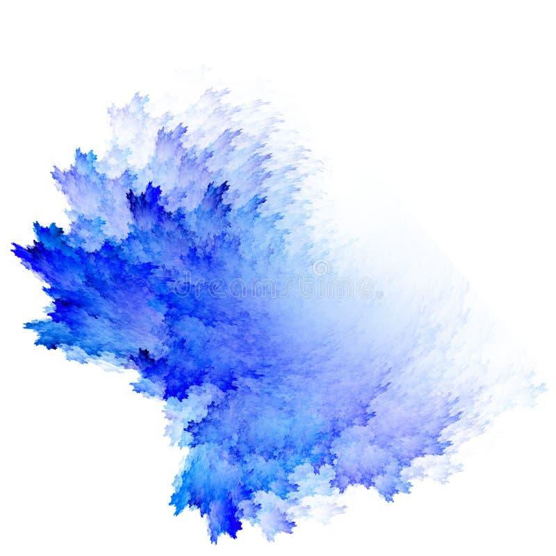 Astrazione blu dell'acquerello su un fondo bianco illustrazione di stock