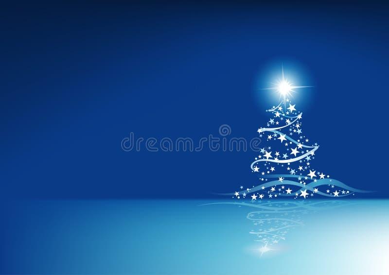 Astrazione blu di Natale illustrazione di stock