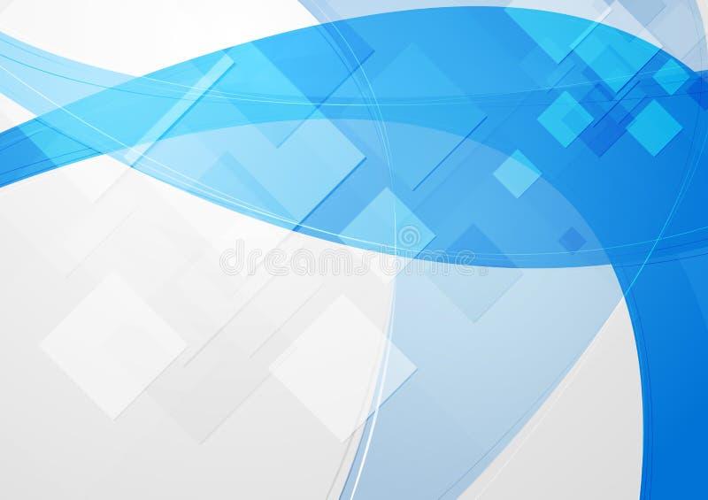 Astrazione blu luminosa illustrazione di stock