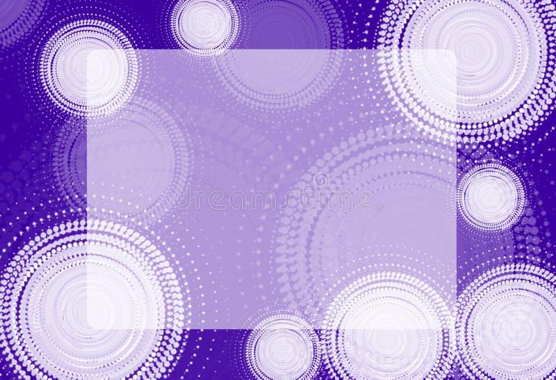 Astrazione Cerchi bianchi su fondo colorato illustrazione di stock