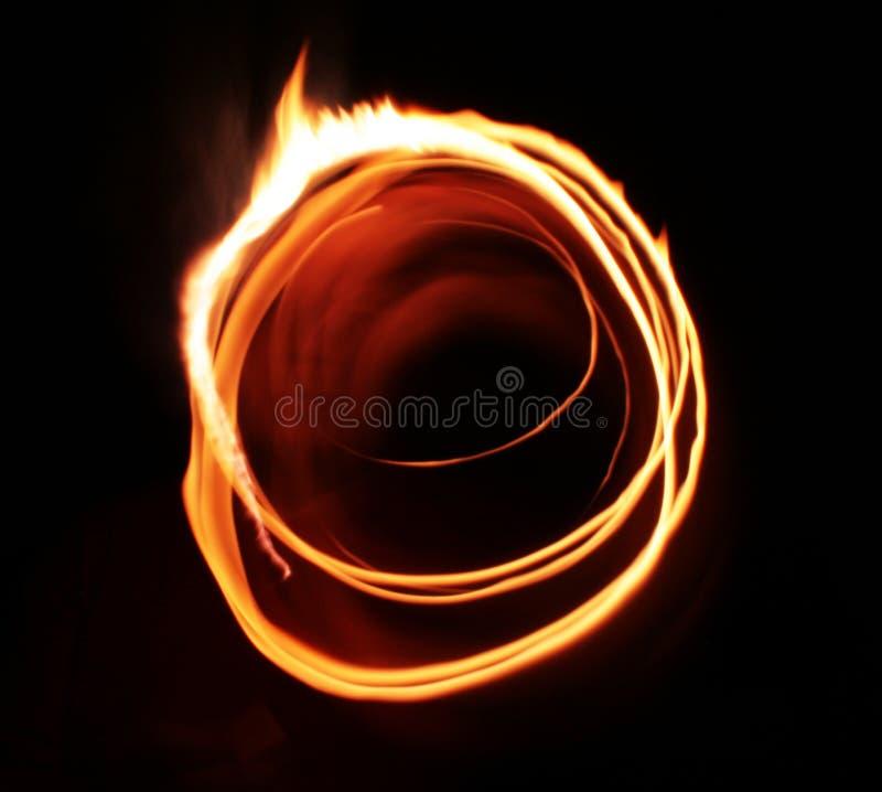 Astrazione dell'indicatore luminoso della fiamma della stella illustrazione di stock
