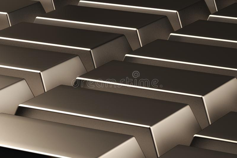 Astrazione delle barre di oro 3d rendono illustrazione vettoriale