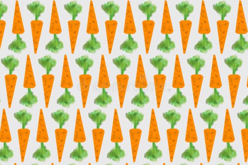 Astrazione delle carote arancio con i tiri verdi fotografia stock libera da diritti