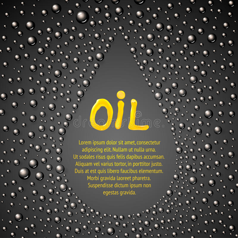 Astrazione di goccia dell'olio. illustrazione di stock