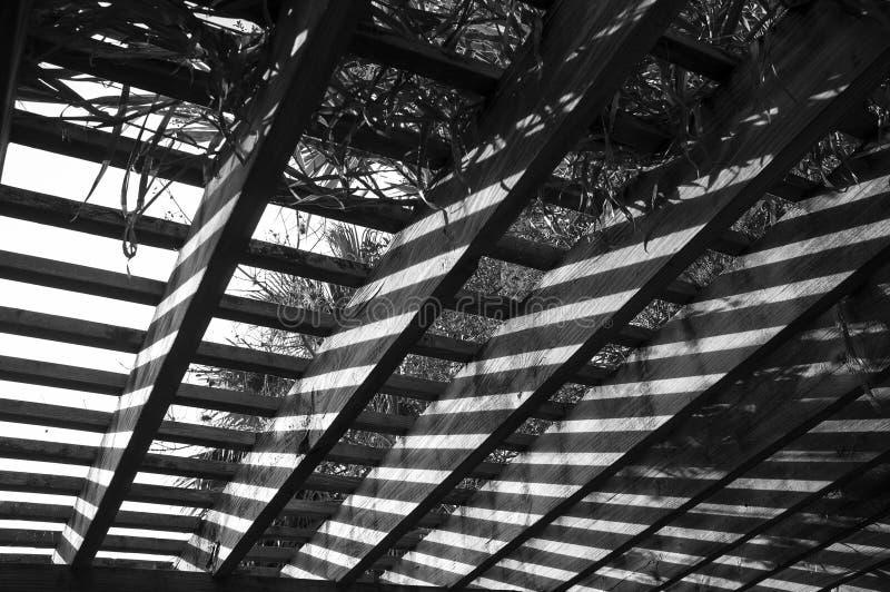 Astrazione di legno del portico fotografia stock