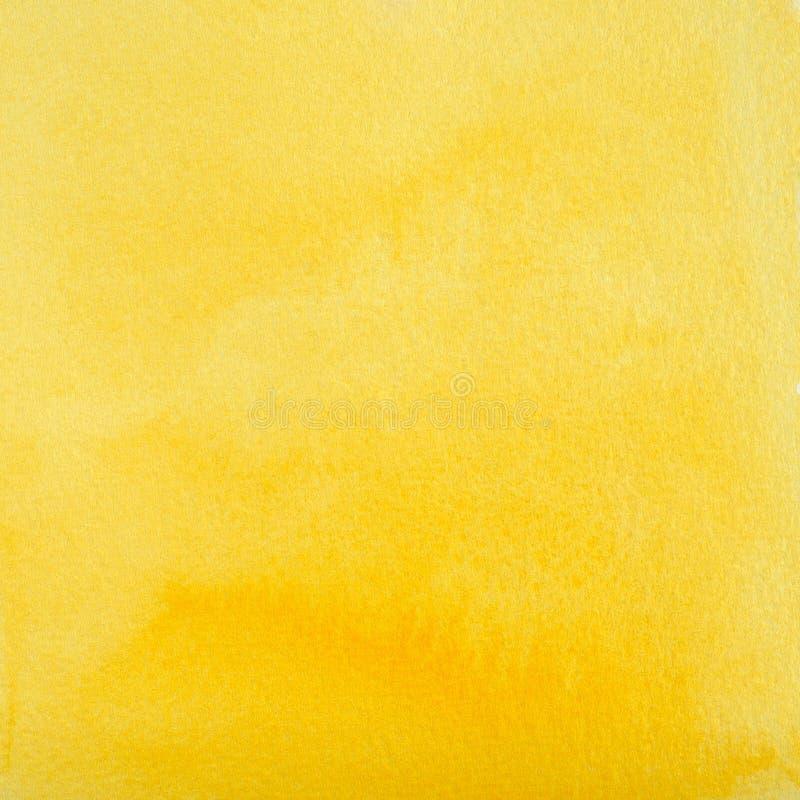 Astrazione gialla dell'acquerello come fondo illustrazione di stock